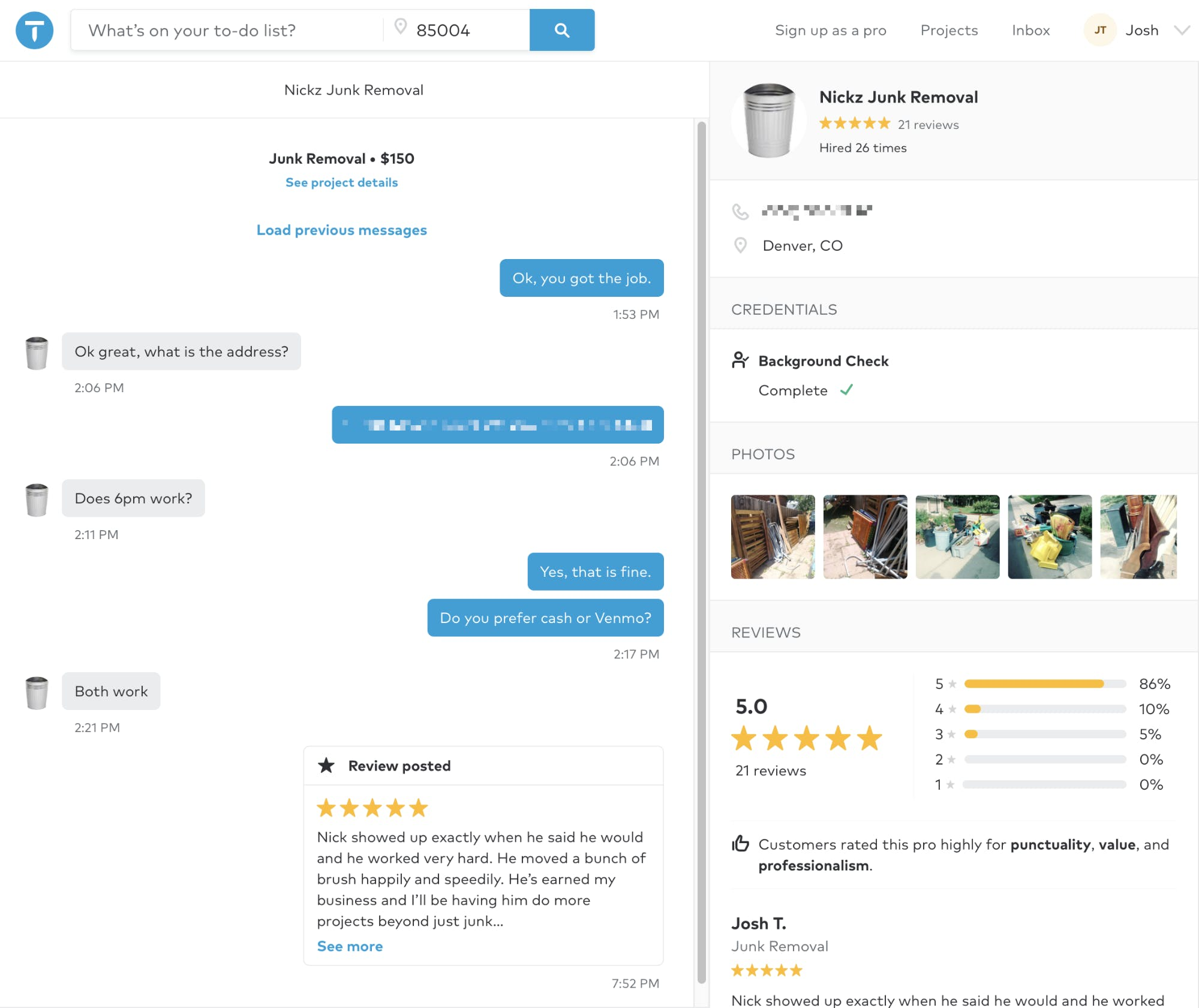 in app chat direct messaging and bot review