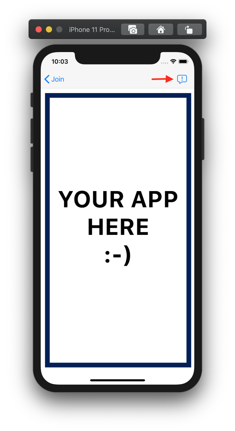 Screenshot shows an app window with a support button that leads to a support chat screen