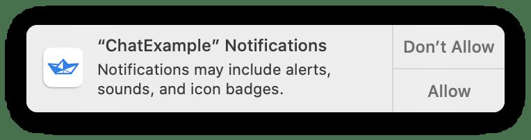 Enable notification alert on macOS