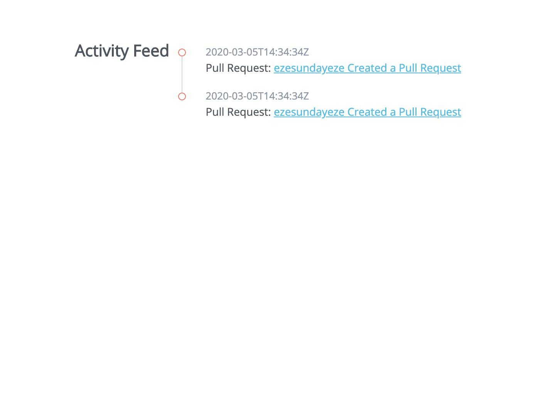 Activity Feed - Example