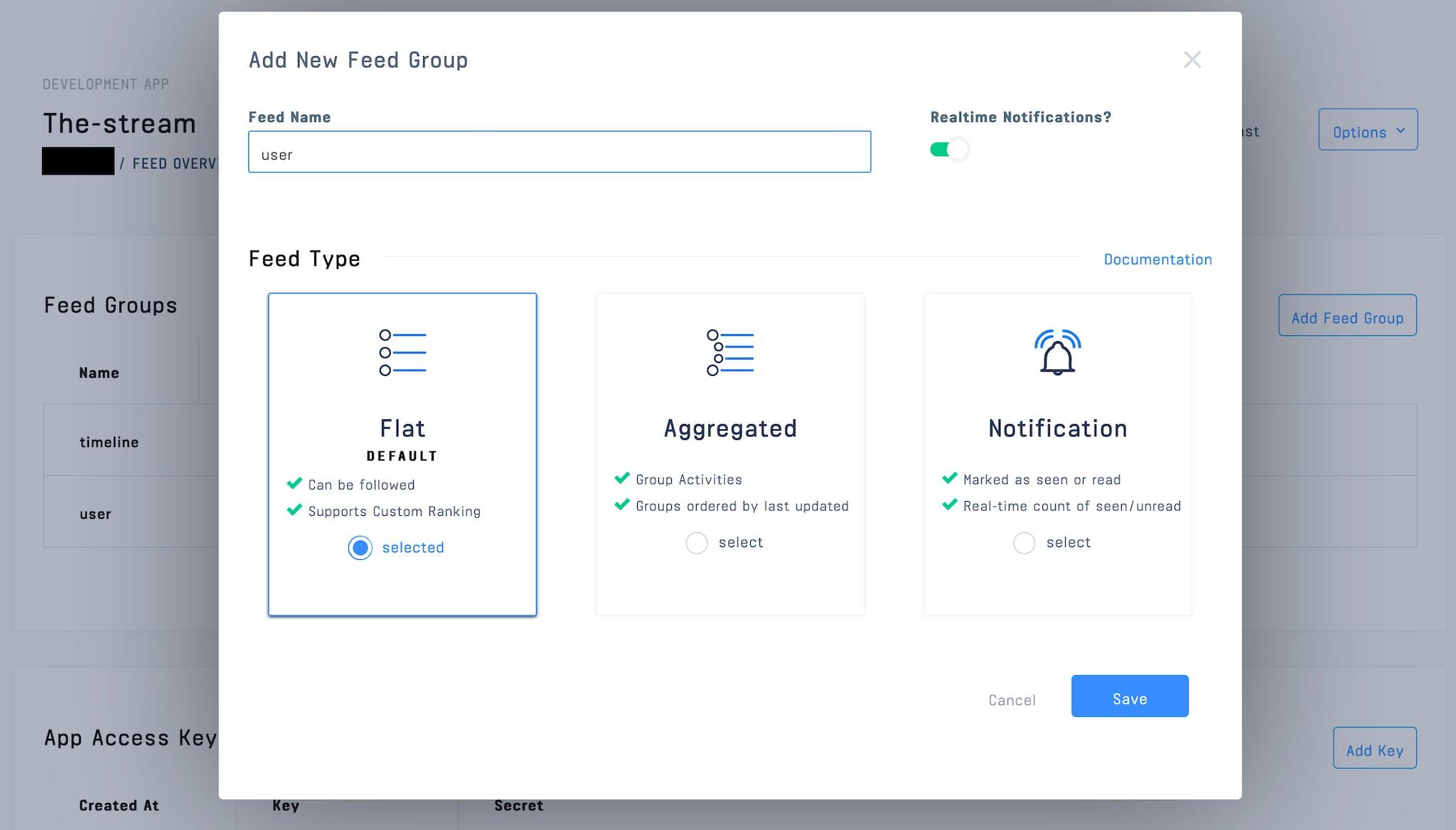 Create User Feed