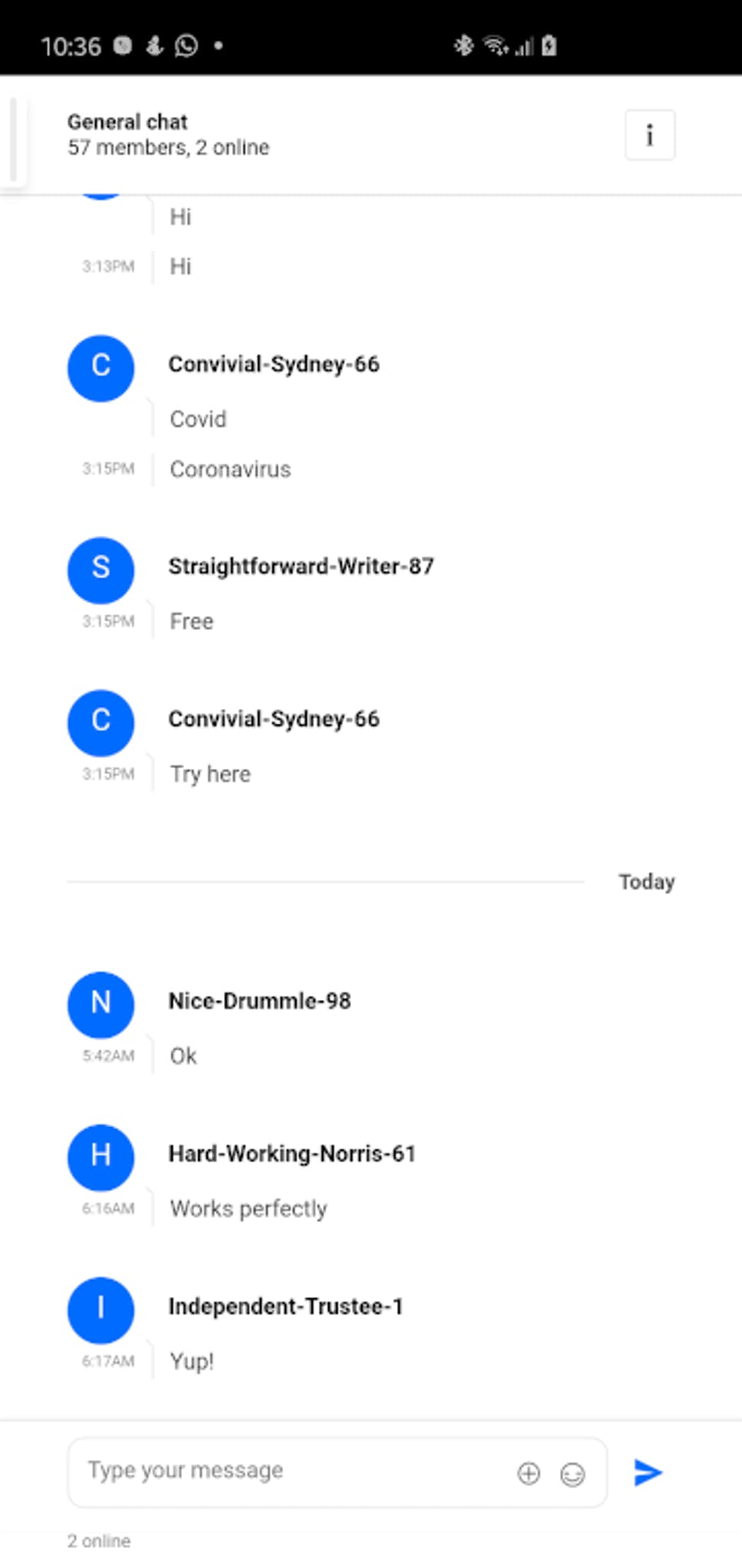 Mobile View –Android Messaging