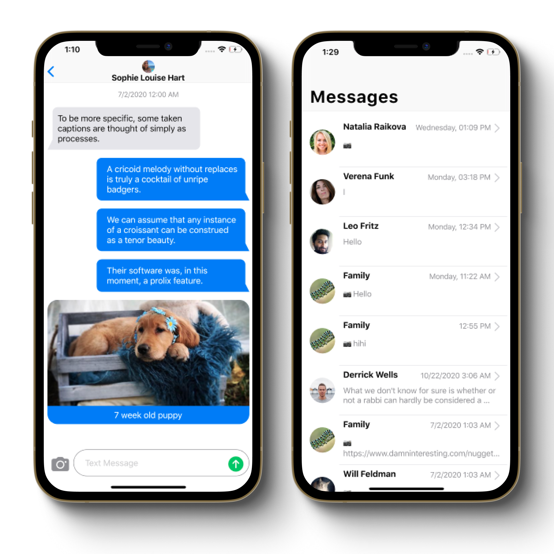 Screenshots of the iMessage Clone with Stream's Flutter SDK